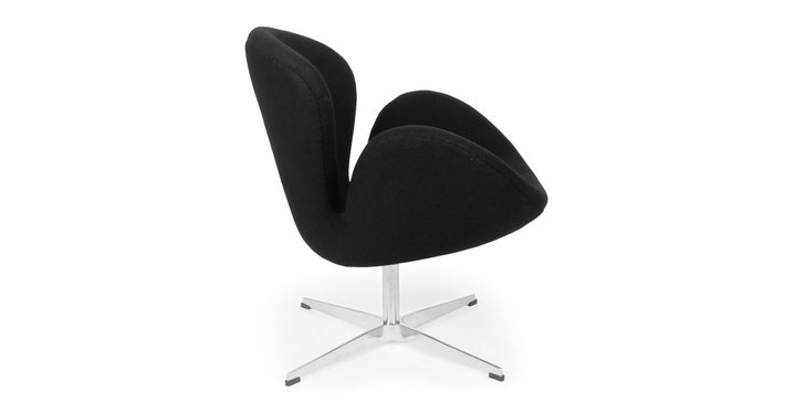Comfortable modern swivel lounge chair fabric leisure swan chair for Mid century furniture