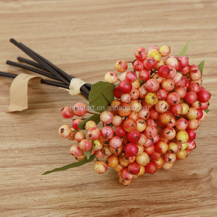Shuyi wholesale high quality 28cm/11inches artificial Christmas berry picks for Christmas decoration