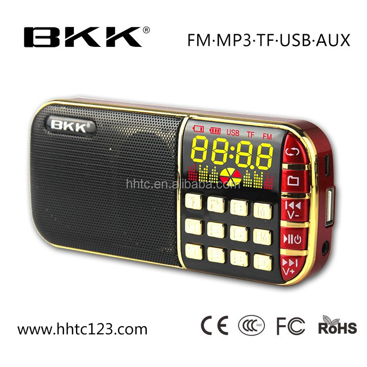 Bkk portabel mp3 music player fm radio speaker (Q70)
