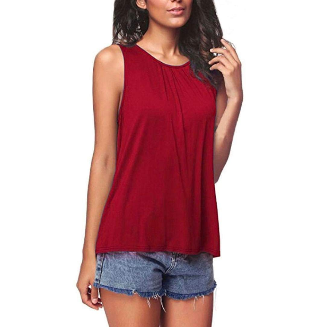 520ea139ff Get Quotations · Leedford Womens Tank Top, Hot Sale Ladies Tunic Tank Top T- Shirt - Loose