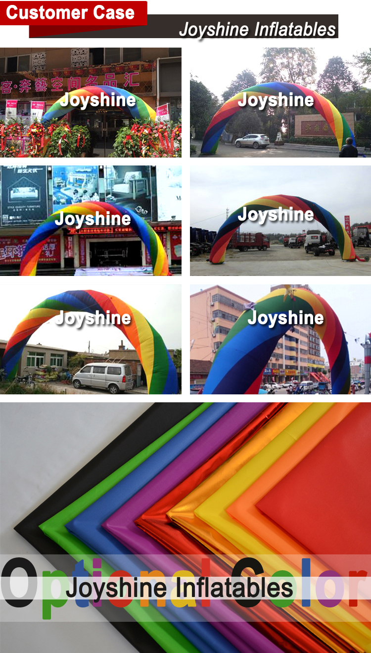 Cheap Air Sealed Inflatable Archway Stage Welcome Rainbow Arch