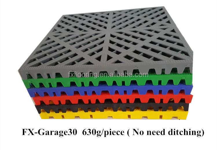 Garage Modulaire Systeem Opgeschort Plastic Vloermatten Voor Werkplaats En Reparatie Winkel
