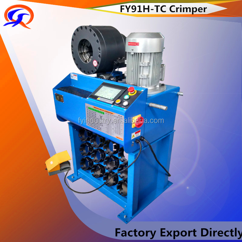 FY91H-TC Crimper Australia 2016 TUV/CE maquinas para prensar mangueras hidraulicas crimping machine Made in china