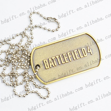 New Arrival Souvenir Charm Metal Dog Tag Bronze Plated