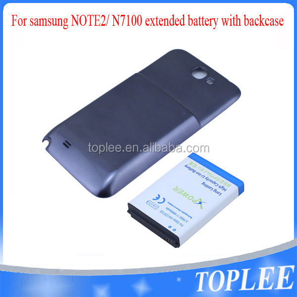 6800mAh High Capacity China OEM Etended Replacement Cell Phone extended Battery + Back Cover Case For Samsung Note2 N7100