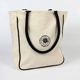 Natural Cotton Canvas Tote Carry Bag With Rope Handles