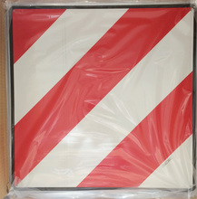 Red and white reflective aluminum sheet slow moving Vehicle panel