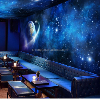 Star Ceiling Mural Wallpaper Personalized Wall Paper Themed Bar Room