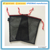 black mesh drawstring bag travel storage bag wash bag