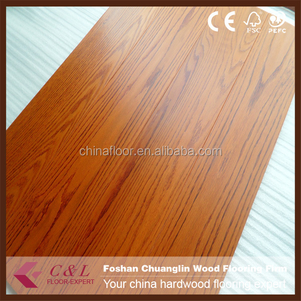 Red oak/maple/walnut parquet wood flooring with natural color