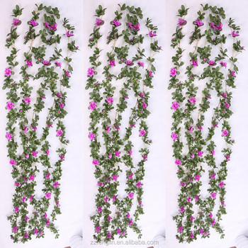 200cm artificial rhododendron silk flower vine cheap wholesale 200cm artificial rhododendron silk flower vine cheap wholesale artificial silk flower garland for wall hanging decoration mightylinksfo