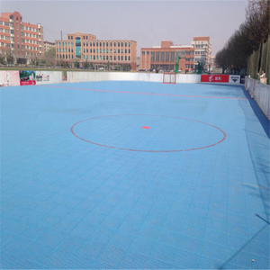 Outdoor flat surface PP interlock futsal soccer football field floor