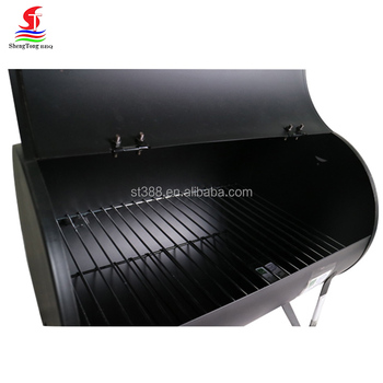 portable stainless steel charcoal grill big american barrel bbq grill smoker with wheels - Stainless Steel Charcoal Grill