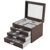 Simple wood multilayer display jewelry storage box vintage style jewelry box