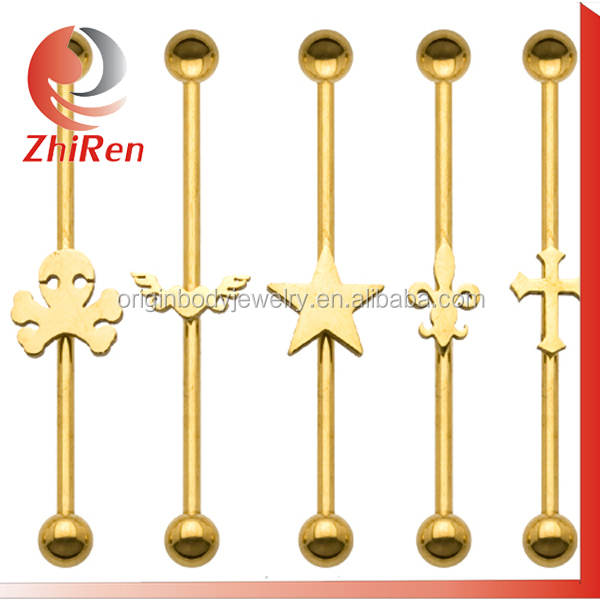 Hot selling stainless steel fake industrial piercing jewelry
