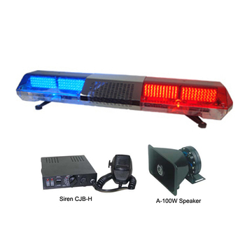 Red Blue Police Light Bars With 100w Speaker Built-in Controlled By Siren  For Military Tbd 210l1s - Buy Red Blue Police Military Light Bars With