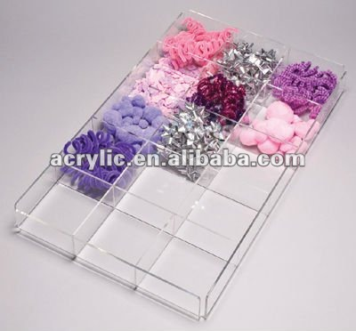 Acrylic / Perspex clear beads display trays for jewelry shop