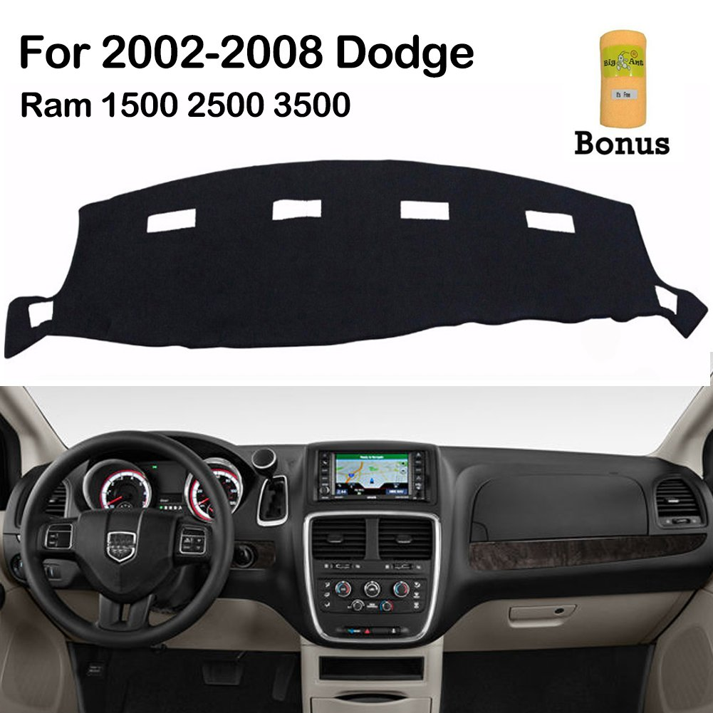 Ant Dashboard Cover For Dodge Ram 1500 2500 3500 2002 2008 Black Carpet Dash