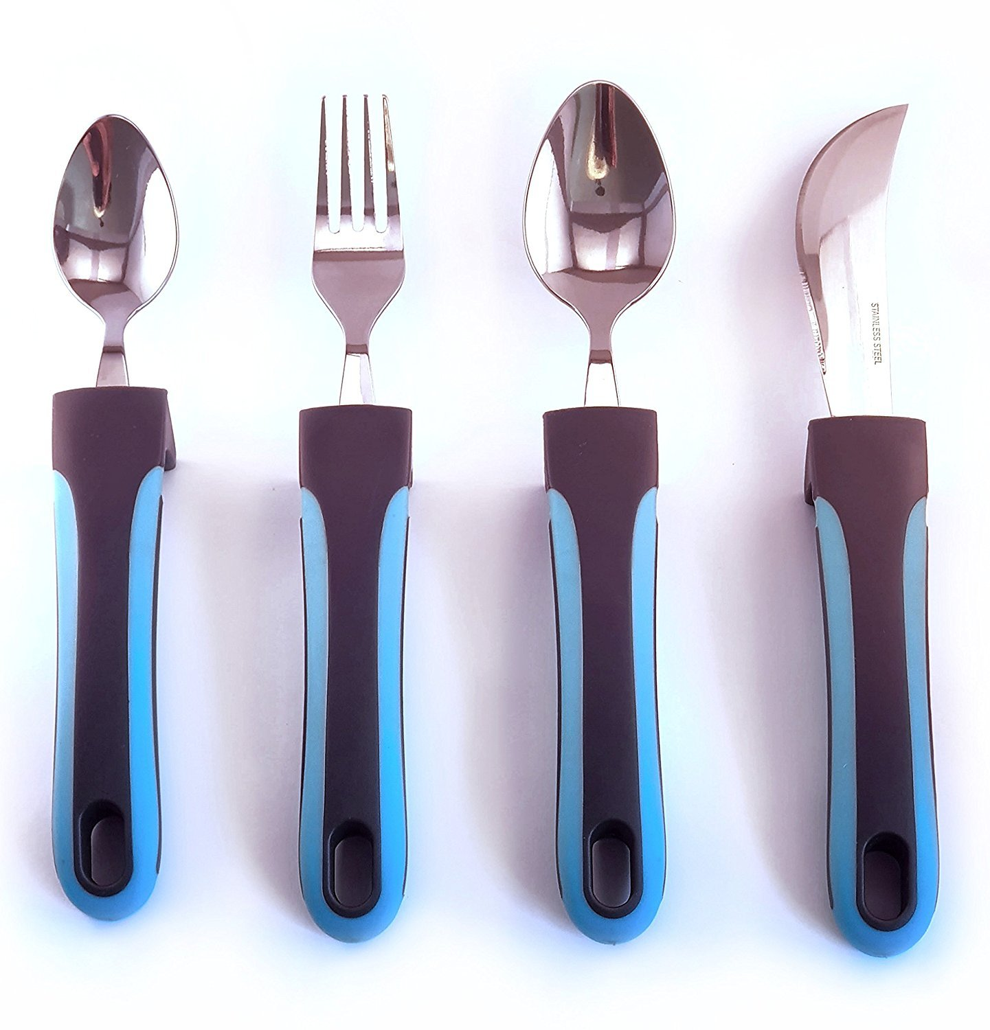 773985891a9b Get Quotations · Adaptive Utensils - Weighted Knives, Forks and Spoons  Silverware Set for Elderly People, Disability
