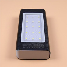 Original Factory Wholesale 15000mAh 3 USB Mobile Power Bank 3 USB, with camping lantern, LED power indicator and torch light