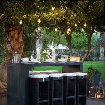 Outdoor String Lights 48ft Bulbs Not Included Heavy Duty Garden Hanging Market Patio
