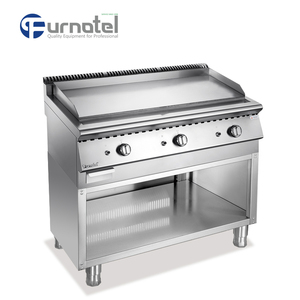 Commercial Furnotel Griddle Gas With Open Cabinet