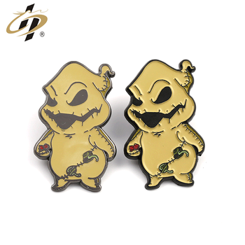 Unbeatable  Novelty product High quality customize gold hard enamel Alien creature animal  lapel pin