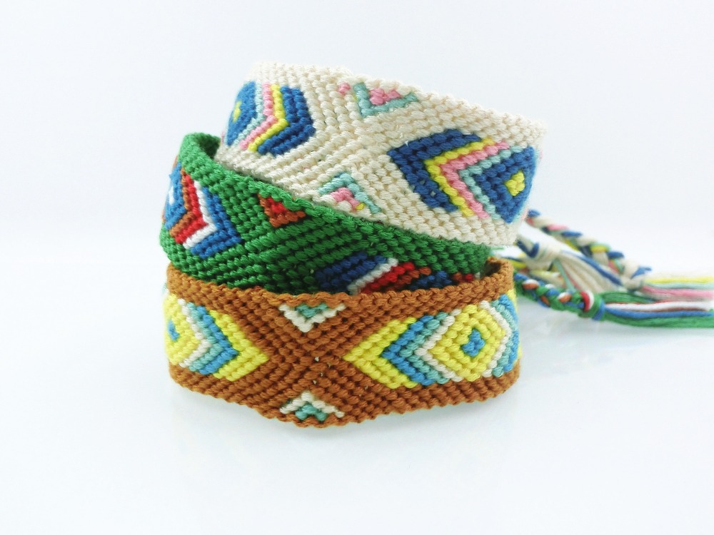 c95a75b9155b Handmade Wrap Embroidery Cotton Friendship Bracelet Hipanema Woven Rope String  Friendship Bracelets For Women Men