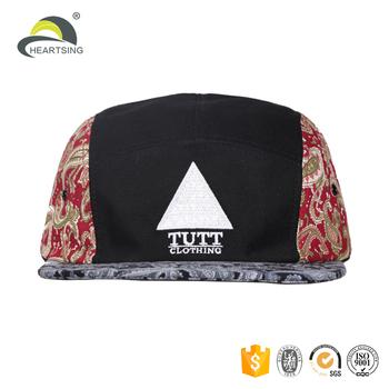 blank wholesale 3d embroidery custom print pattern 5 panel hats no minimum cf0f586615f5