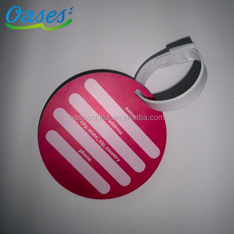 Factory directly provide customized shape plastic luggage tag