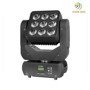 New matrix 9*10W RGBW 4 in 1 LED moving head beam light high quality square head