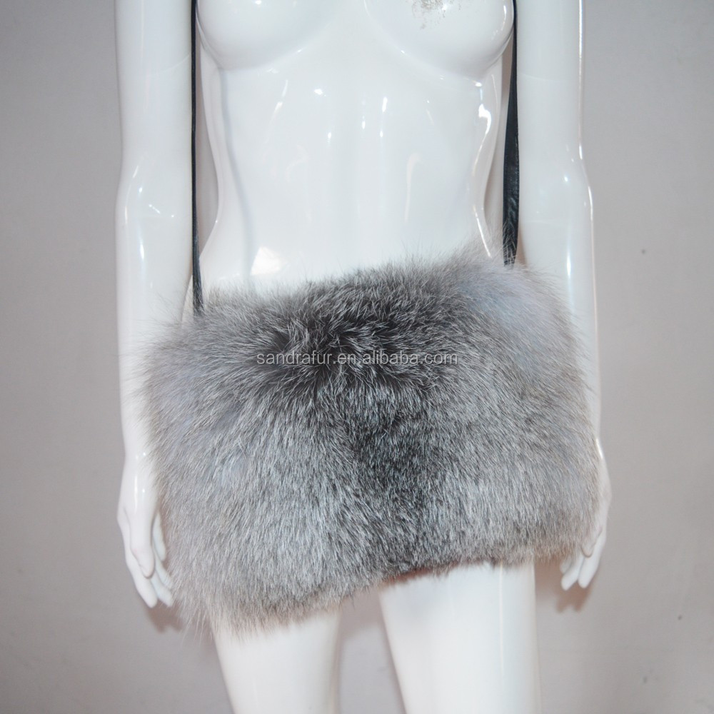 Sj724-01 Winter Hot Sale Raccoon Fox Christmas Fur Hand Warmer And To Have A Long Life. Apparel Accessories