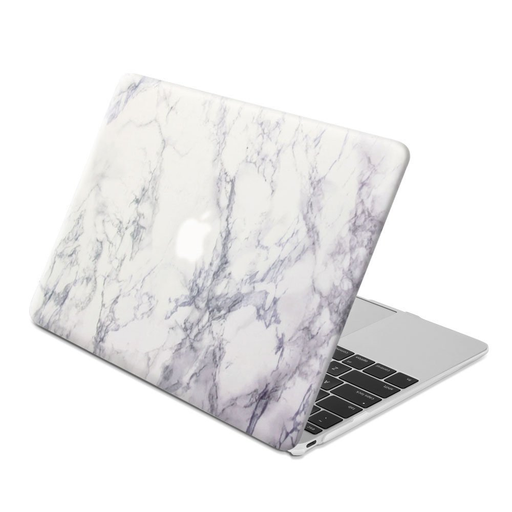 GMYLE Plastic Hard Case Print Frosted for The New Macbook 12 inch with Retina Display Model A1534 (Newest Version 2017/2016/2015) - Marble Pattern Rubber Coated Shell Cover