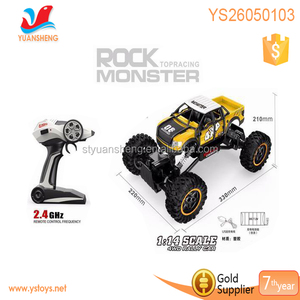 Hot sale 1:14 scale 2.4G RC Four Wheel high speed rock Pickup truck Monster Car Stunts
