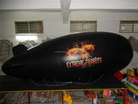 Blue Inflatable helium blimp with printings for trade show