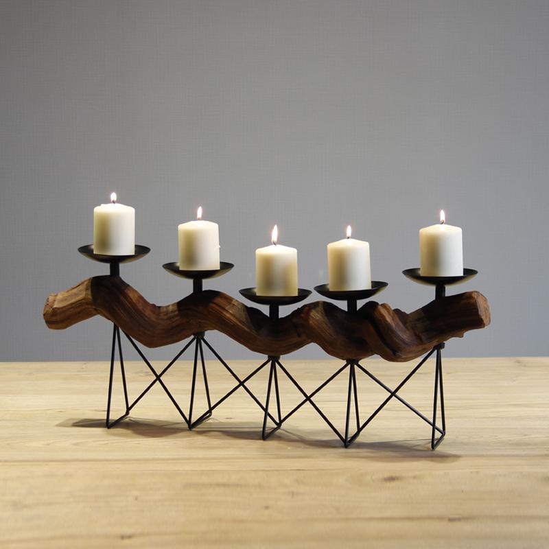Nuevo diseño artesanal mano alambre de metal navidad candelabros ...