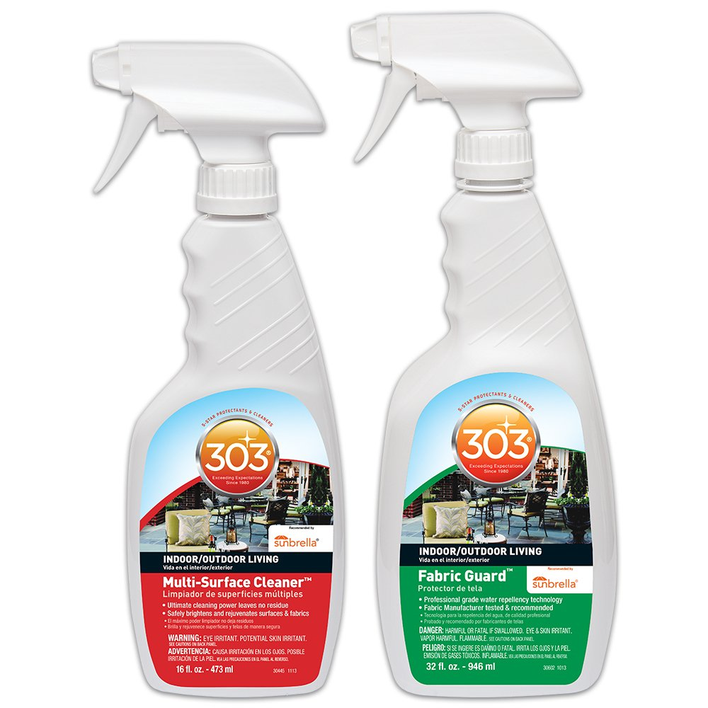 303 Patio & Multi-Purpose Cleaner & Protectant Kit-Fabric Guard, Protectant, Water & Stain Repellent 32oz & Multi-Surface Cleaner, Home & Patio 16oz
