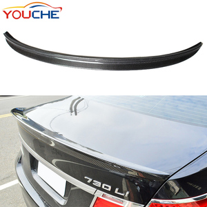For BMW 7 series F01 2010-2015 carbon fiber rear boot trunk spoiler