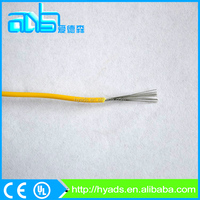 AWG 24 yellow PVC insulated stranded tinned copper electric wire