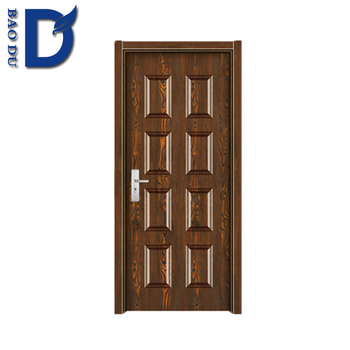 Colored Glass Insert Commercial Steel Entry Doors Nigeria Country ...