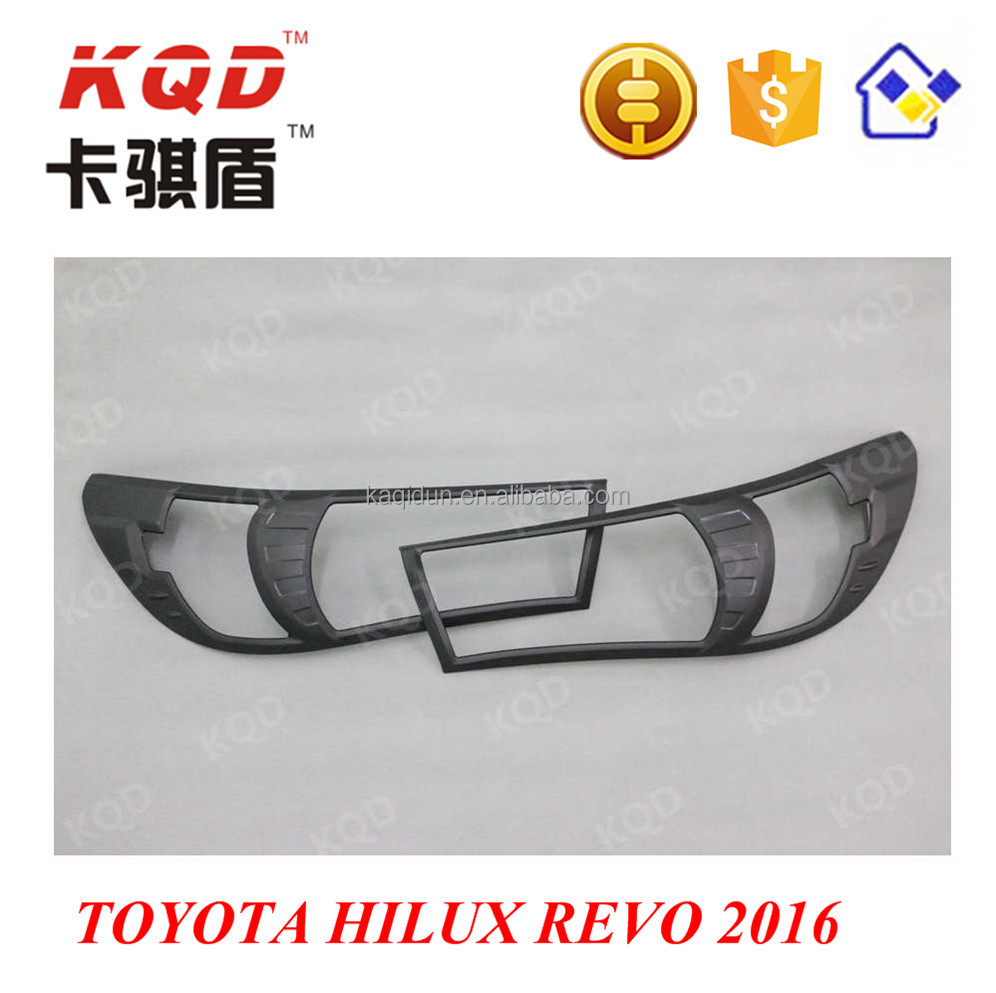 hilux revo accessories black headlight cover For Toyota Hilux Revo 2016