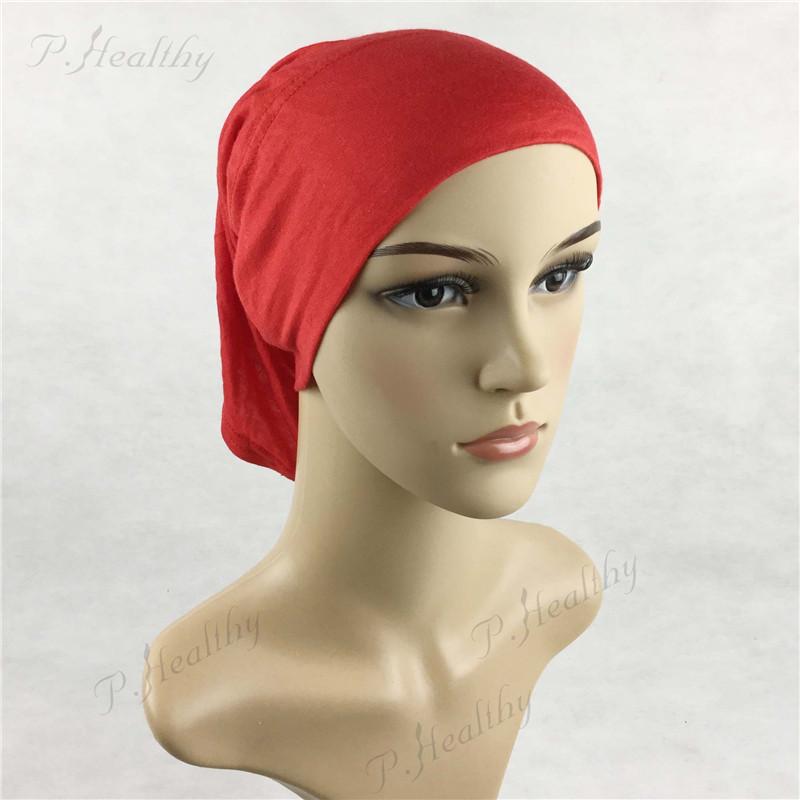 Cover Inner Muslim Cotton Hijab Cap Islamic Head Wear Hat ...