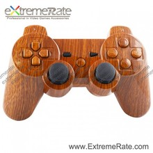 wooden grain hydro dipping shell for playstation 3 Controller