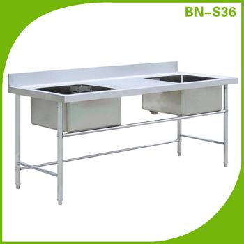 Hotel Kitchen Freestanding Kitchen Stainless Steel 1 Bowl Single Sink
