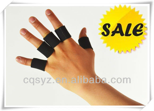 cotton Elastic rubber Finger Protectors bands sleeve For Sports Manufacturer