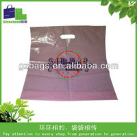 Frosted plastic bags with reinforce handle