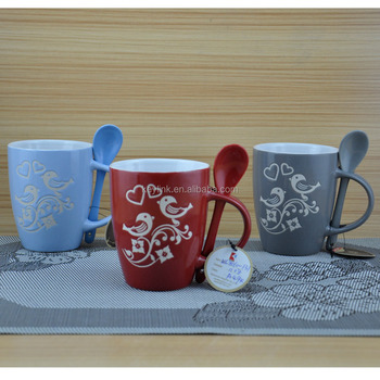 12oz With Spoon Costa Gloss Finish Coffee Stoneware Mug