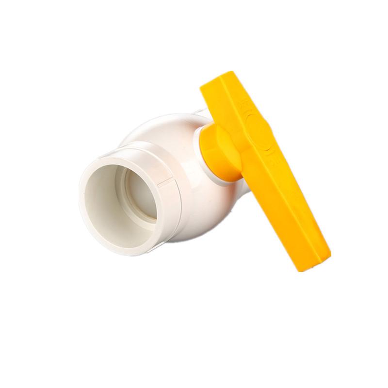 UPVC küresel vana 1 inç ABS plastik saplı küresel vanalar PVC