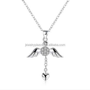 925 sterling silver flying angel pendant necklaceamazon hot sale 925 sterling silver flying angel pendant necklace amazon hot sale aaa zircon solid silver love aloadofball Images