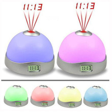 Free Shipping Starry Digital Magic LED Projection Alarm Clock Night Light Color Changing E5M1